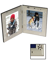 4x6 Dual Picture Frame With Winter Themed Design