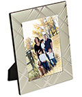 "5"" x 7"" Silver Picture Frames with Crisscross Accents"