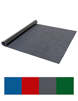 10' Roll carpet runner with your choice of blue, gray, red or green color options
