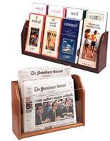 Wood Literature Displays