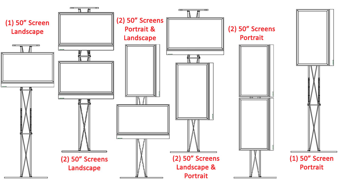 Tall Tv Stand Portable Truss Design W Oval Base