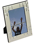 Decorative Picture Frame with Square Reflective Accents