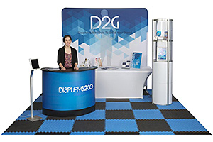 10' x 10' trade show booth displays