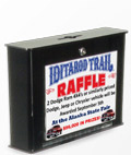Large raffle boxes can collect contact information at trade shows