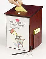 Each Wooden Ballot Box can Be Wall Mounted or Placed on Countertops
