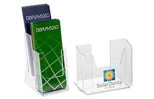 Acrylic Countertop Brochure Holders with Single and Multiple Pockets