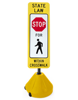 "Portable Crosswalk Sign, 17.5"" Overall Width"