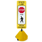 Portable Crosswalk Sign, Weighs 11.5 lbs