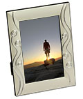 Silver Plated Photo Frame with Reflective Accents