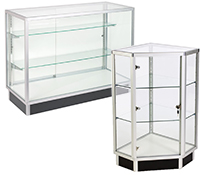 "38"" High Glass Retail Counters"
