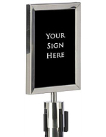QueuePole Sign Frames and Accessories