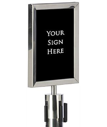 QueuePole Sign Frames