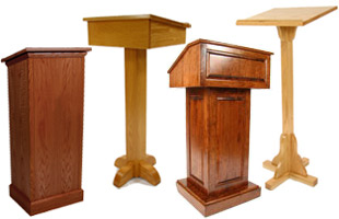 Wood Lecterns In Various Designs For Churches Classrooms