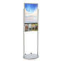 18 x 24 Silver Mobile Poster Stand with 4 Leaflet Pockets with Welded Skirt