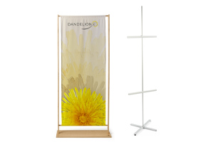 promotional banner with individualized graphics printed on vinyl