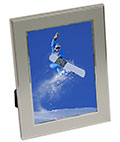 "5"" x 7"" Silver Plated Picture Frames for Table or Wall"