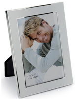 "5"" x 7"" Silver Plated Picture Frames for Wall or Table"