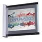 Perpendicular Sign Holder with Faux Glass