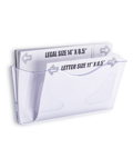 Clear Acrylic Wall File Folder For Wall Mounting, Hardware Included