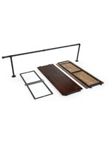 5 Piece Outrigger Add-On Unit with Dark Wood Shelves