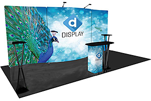 10' x 20' trade show booth displays