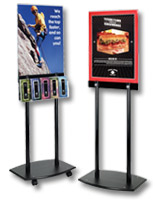 Black Acrylic Poster Stands