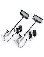 Set of two 12 Watt LED exhibit stem lights set