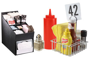 Food Displays Trays Bins Dispensers Risers And Other Organizers - Restaurant table organizers