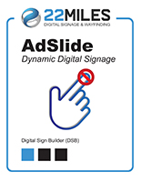 Digital display board software for non-touch kiosks and monitors