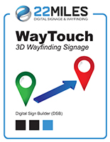 Digital wayfinding software with interactive design