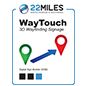 Digital wayfinding software with dedicated 22Miles project manager