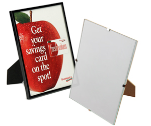 Countertop picture frame sign holders