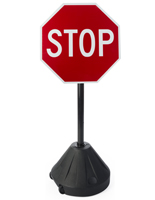 "Portable Stop Sign, 17.5"" Base Diameter"
