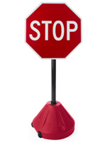 "Portable Stop Sign Stand, 24"" Overall Width"