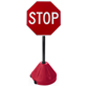 "Portable Stop Sign Stand, 17.5"" Base Diameter"