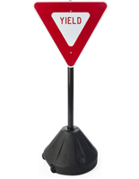 "Yield Sign Stand, 17.5"" Base Diameter"