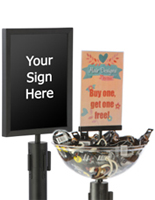 QueuePole.Deluxe Stanchion Signs & Accessories