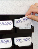 Business card holders are top sellers along with acrylic donation bins with sign headers and multiple contact racks.