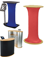 Trade Show Podiums & Pop-Up Counters