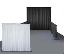 pipe and drape for trade show or wedding reception
