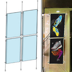 Hanging Display System with Acrylic Panels