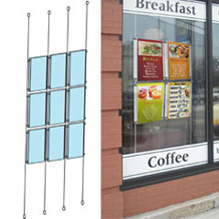 Hanging Cable System for Window Displays