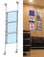 Hanging System With Acrylic Panels