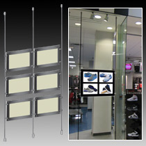 Cable Suspension Window Display System