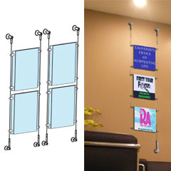 Hanging System For Signs Wall Mount Cable Display