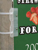 Outdoor Sign with Holder