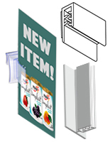 Clear Shelf Sign Holders