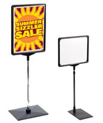 Counter top signs for retail store