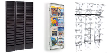 Wall Magazine Racks Publication Holders With Multiple Pockets