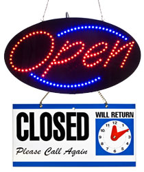 open closed signs